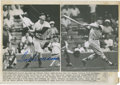 Autographs:Photos, 1958 Ted Williams Signed Original Wire Photograph....