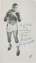 Autographs:Sports Cards, Sonny Liston Signed Photograph....