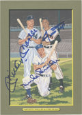 Autographs:Post Cards, Mickey Mantle, Willie Mays and Duke Snider Signed Perez-Steele Great Moments Card....