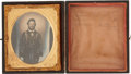 Military & Patriotic:Civil War, Civil War Sixth Plate, Soft Emulsion, Early War Ruby Ambrotype of Pvt. Thomas H. Chandlier, 48th Tennessee Infantry, C.S.A....
