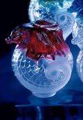 "Art Glass:Lalique, LALIQUE. ""Imperial, Red"" A Limited Edition Glass Vase, designed 2000. Numbered 32 from an edition of 99, one of two remainin..."