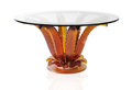 "Art Glass:Lalique, LALIQUE. ""Cactus"" An Amber Glass Table, designed 2006. Extremelylimited production and availability. 27-1/4 x 44-7/8 inches..."