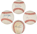 Autographs:Baseballs, Hall of Famers Signed Baseballs Lot of 4.... (Total: 4 items)
