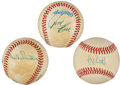 Autographs:Baseballs, Hall of Famers Signed Baseball Lot of 3.... (Total: 3 items)