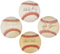 Autographs:Baseballs, Hall of Famer Pitchers Signed Baseball Lot of 4.... (Total: 4items)