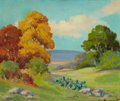 Texas:Early Texas Art - Impressionists, CLARA PANCOAST (American, 1872-1959). Texas in the Fall. Oilon board. 19 x 22-1/4 inches (48.3 x 56.5 cm). Signed lower...