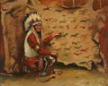 Western:20th Century, SERGEI R. BONGART (Russian/American, 1918-1985). Chief Redcloud. Oil on canvas. 24-1/4 x 30-1/4 inches (61.6 x 76.8 cm)...