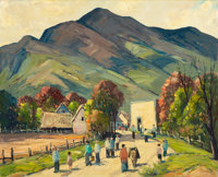 JOHN F. ENSER (American, 1898-1962) Up the Road Oil on canvas 24 x 30 inches (61.0 x 76.2 cm)