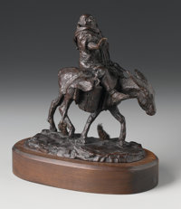 CHARLES MARION RUSSELL (American, 1864-1926) Friar Tuck Bronze 8 x 7 inches (20.3 x 17.8 cm) L