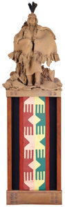 Western:Contemporary, CAROL WHITNEY (American, 20th Century). Set of Three Indian Figure Wall Hangings, 1983. Mixed media. 46-1/2 x 15 x 6-1/2... (Total: 3 Items)