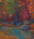 Texas, MICHAEL ETIE (American, b. 1948). Autumn. Pastel on paper.15 x 17 inches (38.1 x 43.2 cm). Signed lower left: M.Etie...