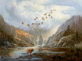 Paintings, LYLE TAYSON SR. (American, b. 1924). Mountain Paradise. Oil on canvas. 30 x 40 inches (76.2 x 101.6 cm). Signed lower le...