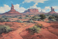 Western:20th Century, KARL ALBERT (American, 1911-2007). Monument Valley. Oil on canvas. 24 x 36 inches (61.0 x 91.4 cm). Signed lower right: ...