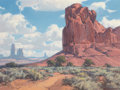 Western:20th Century, KARL ALBERT (American, 1911-2007). Monument Valley. Oil on canvas laid on board. 18 x 24 inches (45.7 x 61.0 cm). Signed...