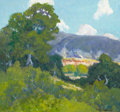 Paintings, PETER LANZ HOHNSTEDT (American, 1872-1957). Texas Landscape. Oil on board. 14-1/2 x 16 inches (36.8 x 40.6 cm). Signed l...