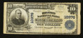 National Bank Notes:Tennessee, Elizabethton, TN - $10 1902 Plain Back Fr. 632 The Holston NB Ch. #10976. ...