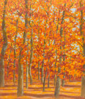 Texas:Early Texas Art - Modernists, STEPHEN THOMAS RASCOE (American, b. 1924). Autumn Trees. Oilon masonite. 42 x 36 inches (106.7 x 91.4 cm). Signed lower...