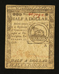 Colonial Notes:Continental Congress Issues, Continental Currency February 17, 1776 $1/2 Choice About New....