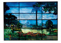 "Art Glass:Tiffany , PROPERTY OF A DISTINGUISHED FLORIDA FAMILY. TIFFANY STUDIOS. ALeaded Glass ""Landscape"" Window from ""Fenway Gate"", Boston,..."