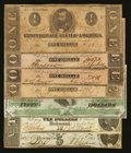 Confederate Notes:1862 Issues, Seven Confederate Notes 1862-63.. ... (Total: 7 notes)