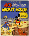 Platinum Age (1897-1937):Miscellaneous, 40 Big Pages of Mickey Mouse #945 (Whitman, 1936) Condition: VF....