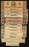 Confederate Notes:1863 Issues, Confederate Notes and Bond Coupons.. ... (Total: 12 items)