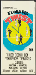 "Movie Posters:Rock and Roll, Twist Around the Clock (Columbia, 1961). Italian Locandina (13"" X27""). Rock and Roll.. ..."