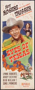 "Movie Posters:Western, Eyes of Texas (Republic, 1948). Insert (14"" X 36""). Western.. ..."