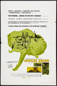 """African Safari (Crown International, 1969). One Sheet (27"""" X 41"""") Also Known As Rivers of Fire and Ice. Docume..."""