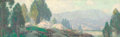 Paintings, EDGAR ALWIN PAYNE (American, 1883-1947). Spring in the Mountains. Oil on canvas. 15 x 48 inches (38.1 x 121.9 cm). Signe...