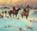 Texas:Early Texas Art - Regionalists, G. (GERALD HARVEY JONES) HARVEY (American, b. 1933). Letter fromHome, 1976. Oil on canvas. 20 x 24 inches (50.8 x 61.0 ...