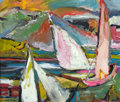 Texas:Early Texas Art - Modernists, FORREST CLEMENGER BESS (American, 1911-1977). Untitled(Sailboats). Oil on canvas. 15 x 18 inches (38.1 x 45.7 cm).Sign...