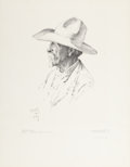 Western:20th Century, WILLIAM HERBERT DUNTON (American, 1878-1936). The Old Pioneer, 1931. Lithograph on paper. 21-1/4 x 16 inches (54.0 x 40....