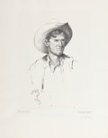 Western:Contemporary, WILLIAM HERBERT DUNTON (American, 1878-1936). Texas Bronc Twister, 1930. Lithograph on paper. 21-1/4 x 16 inches (54.0 x...