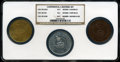 So-Called Dollars, (1961) SC$1 Continental Restrike Set NGC. The Set includes: (1961) So-Called Dollar, HK-856A Gold Restrike MS63 NGC, (1961... (Total: 3 items)