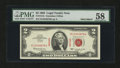 Small Size:Legal Tender Notes, Fr. 1513 $2 1963 Legal Tender Specimen Note. PMG Choice About Unc 58.. ...