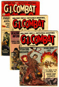 Golden Age (1938-1955):War, G.I. Combat Group (Quality, 1952-56) Condition: Average GD/VG....(Total: 9 )