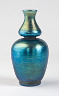 Art Glass:Tiffany , TIFFANY STUDIOS. A Favrile Glass Gourd-Shaped Vase, circa 1910.Marks: engraved L.C.Tiffany - Favrile. 6 inches (15.2 cm...