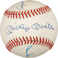 Autographs:Baseballs, Mickey Mantle, Willie Mays and Duke Snider Signed Baseball....