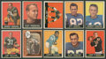 Football Cards:Sets, 1961 Topps Football Partial Set (155/198) w/Stars. ...