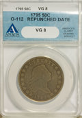 Early Half Dollars, 1795/1795 50C VG8 ANACS....