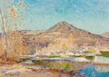 Texas:Early Texas Art - Impressionists, PROPERTY FROM THE DUFFY AND TINA OYSTER FOUNDATION. JULIANONDERDONK (American, 1882-1922). Flag Mountain, 1914. Oilo...