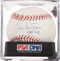 Autographs:Baseballs, Don Sutton Single Signed Baseball PSA Gem Mint 10....