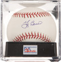 Autographs:Baseballs, Yogi Berra Single Signed Baseball PSA Mint+ 9.5....