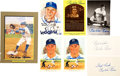Autographs:Index Cards, Pee Wee Reese Signed Lot of 8.... (Total: 8 items)