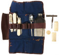 Military & Patriotic:Civil War, Civil War: Folding Officer's Seven Piece Camp Utensil Kit....