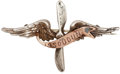 """Military & Patriotic:WWI, World War I: Silver and Gilt """"Issoudun"""" Propeller Badge,..."""