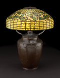 """Decorative Arts, American:Lamps & Lighting, TIFFANY STUDIOS. An """"Acorn and Oak Leaf"""" Leaded Glass and Bronze Table Lamp, circa 1910. Base stamped: 179SX with Tiffan..."""