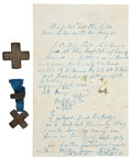 Military & Patriotic:Civil War, Great Silver Civil War Corps/ ID badge of George F. Bemis, 2d Vermont Veteran Vols, Mortally Wounded in The Wilderness May 5, ...