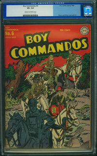 Boy Commandos #6 (DC, 1944) CGC VF+ 8.5 Cream to off-white pages